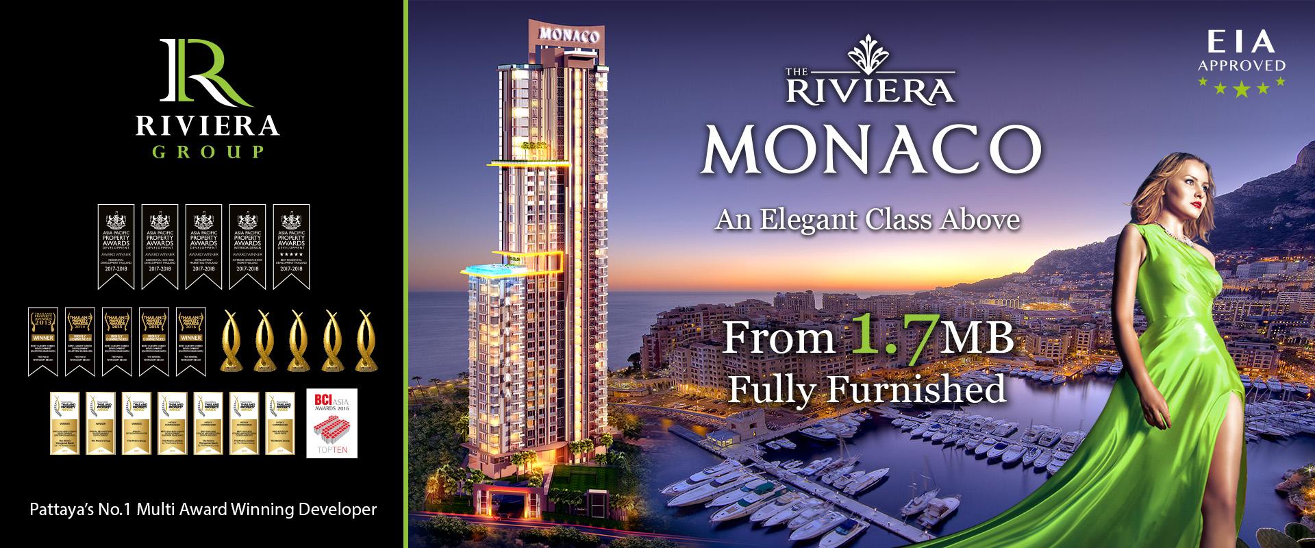 The Riviera Monaco Na Jomtien, Luxury Condominium Pattaya